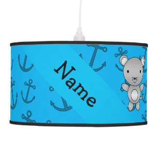 Personalized name mouse blue anchors pattern hanging lamps