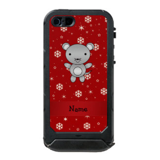 Personalized name mouse red snowflakes incipio ATLAS ID™ iPhone 5 case