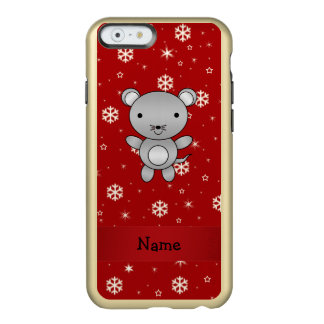 Personalized name mouse red snowflakes incipio feather® shine iPhone 6 case