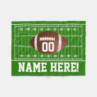 Personalized Name/Number Football Gridiron Boys Fleece Blanket