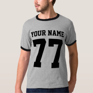 Personalized Name + Number Sports Jersey T-Shirt