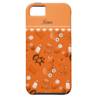 Personalized name orange baby animals iPhone 5 covers