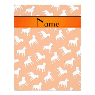 Personalized name orange bull terrier dogs full colour flyer