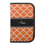 Personalized name orange moroccan pattern
