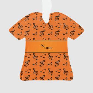 Personalized name orange music notes