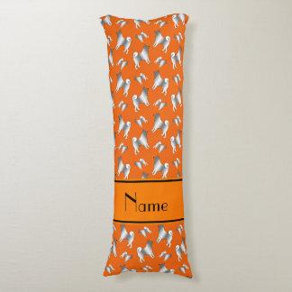 Personalized name orange Norwegian Elkhound dogs Body Pillow
