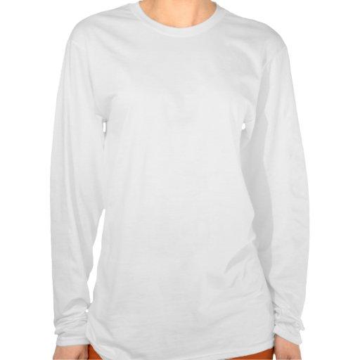Personalized name orange white damask t shirts