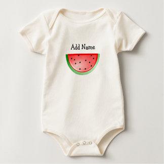 Personalized Name Organic Watermelon Baby Tshirt
