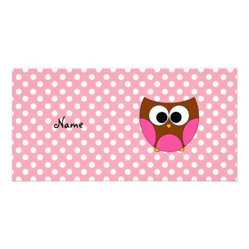 Personalized name owl photo cards