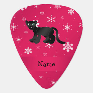 Personalized name panther pink snowflakes pick