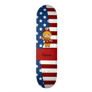 Personalized name Patriotic fireman Skate Board