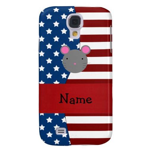 Personalized name Patriotic mouse HTC Vivid Cases