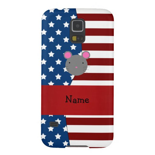 Personalized name Patriotic mouse Galaxy Nexus Cases