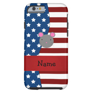 Personalized name Patriotic mouse Tough iPhone 6 Case