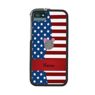 Personalized name Patriotic mouse iPhone 5 Case