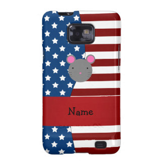 Personalized name Patriotic mouse Galaxy SII Case