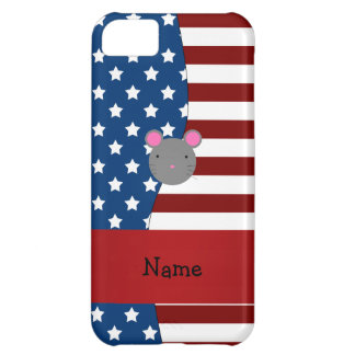 Personalized name Patriotic mouse Case For iPhone 5C