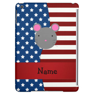 Personalized name Patriotic mouse iPad Air Cases
