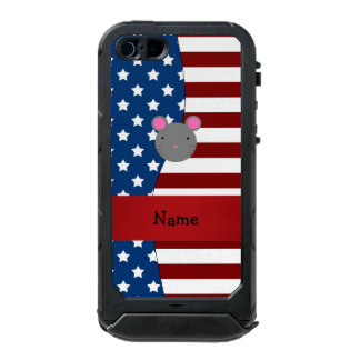 Personalized name Patriotic mouse Incipio ATLAS ID™ iPhone 5 Case