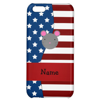Personalized name Patriotic mouse iPhone 5C Cases