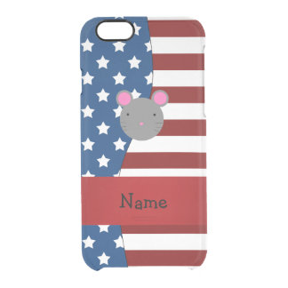 Personalized name Patriotic mouse Uncommon Clearly™ Deflector iPhone 6 Case
