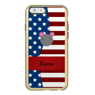 Personalized name Patriotic mouse Incipio Feather® Shine iPhone 6 Case