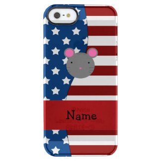 Personalized name Patriotic mouse Uncommon Clearly™ Deflector iPhone 5 Case