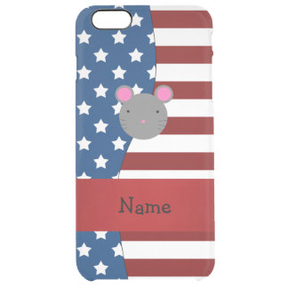 Personalized name Patriotic mouse Uncommon Clearly™ Deflector iPhone 6 Plus Case