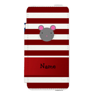 Personalized name Patriotic mouse Incipio Watson™ iPhone 5 Wallet Case