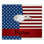 Personalized name Patriotic narwhal
