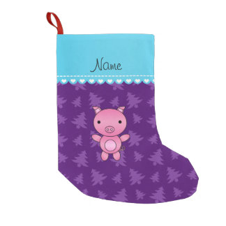 Pig Christmas Gifts Pig Christmas Gift Ideas on Zazzle #1: personalized name pig purple christmas trees small christmas stocking r35eade0afffa b4cd2b1db9a3c8a z6c4e 324 rlvnet=1