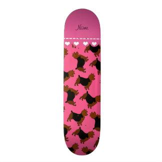 Personalized name pink australian terrier dogs skate decks
