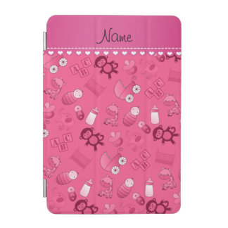 Personalized name pink baby animals iPad mini cover