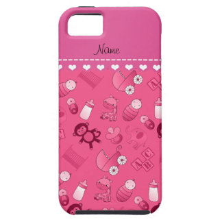 Personalized name pink baby animals iPhone 5 cases