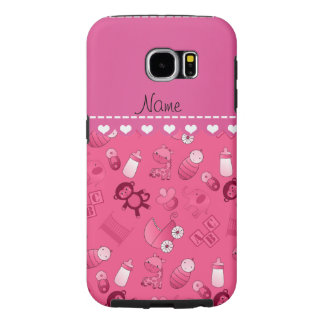 Personalized name pink baby animals samsung galaxy s6 cases