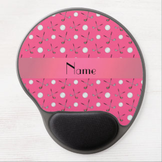 Personalized name pink golf balls gel mouse pad