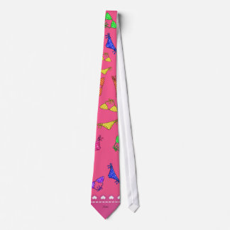 Personalized name pink rainbow bikinis tie