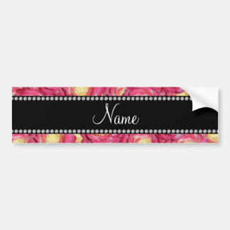 Personalized name Pink roses Bumper Stickers