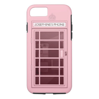 Personalized Name Pink Telephone Box iPhone 7 case