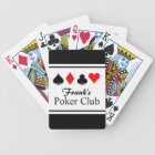 Personalized name poker playing cards