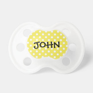 Personalized Name Polka Dots Pacifier
