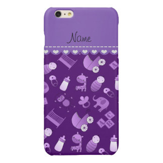 Personalized name purple baby animals