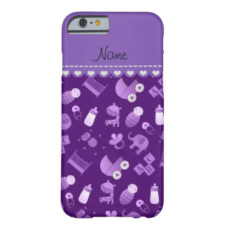 Personalized name purple baby animals barely there iPhone 6 case