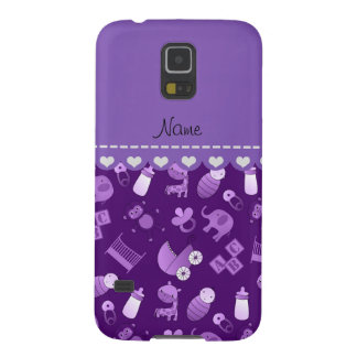 Personalized name purple baby animals case for galaxy s5