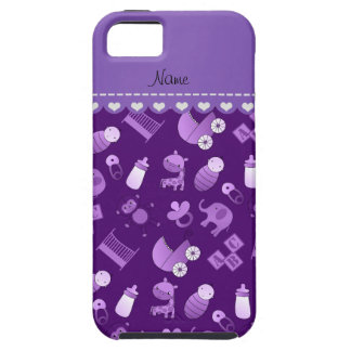 Personalized name purple baby animals iPhone 5 cover