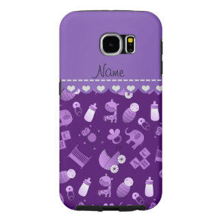 Personalized name purple baby animals samsung galaxy s6 cases