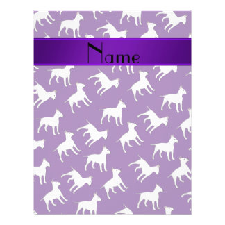 Personalized name purple bull terrier dogs personalized flyer