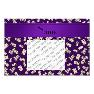 Personalized name purple dominos photo print