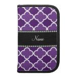 Personalized name Purple quatrefoil pattern