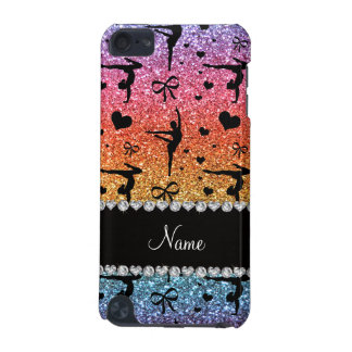Personalized name rainbow glitter gymnastics iPod touch 5G case